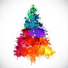 Christmas tree coloured