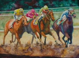 Race Night watercolour