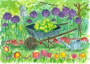 White Horse Garden Club. Wheelbarrow